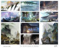 10 paintings in 4 hours by TheEnderling