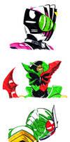 Kamen Rider scribble dump