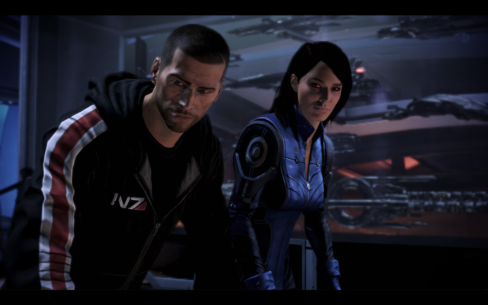 Shepard and Ashley by donabruja