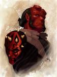 Hellboy vs Darth Maul