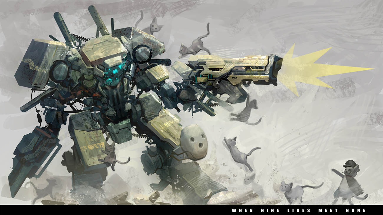 robot lawan kucing by Reza-ilyasa