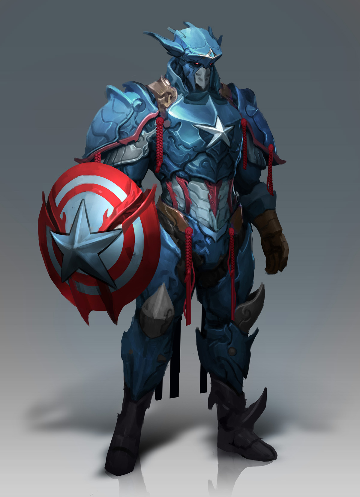 captain america by reza ilyasa imaginarycharacters. Black Bedroom Furniture Sets. Home Design Ideas