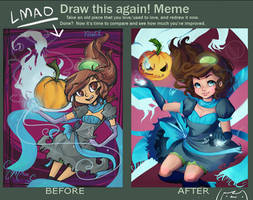 Before and after meme thing?!