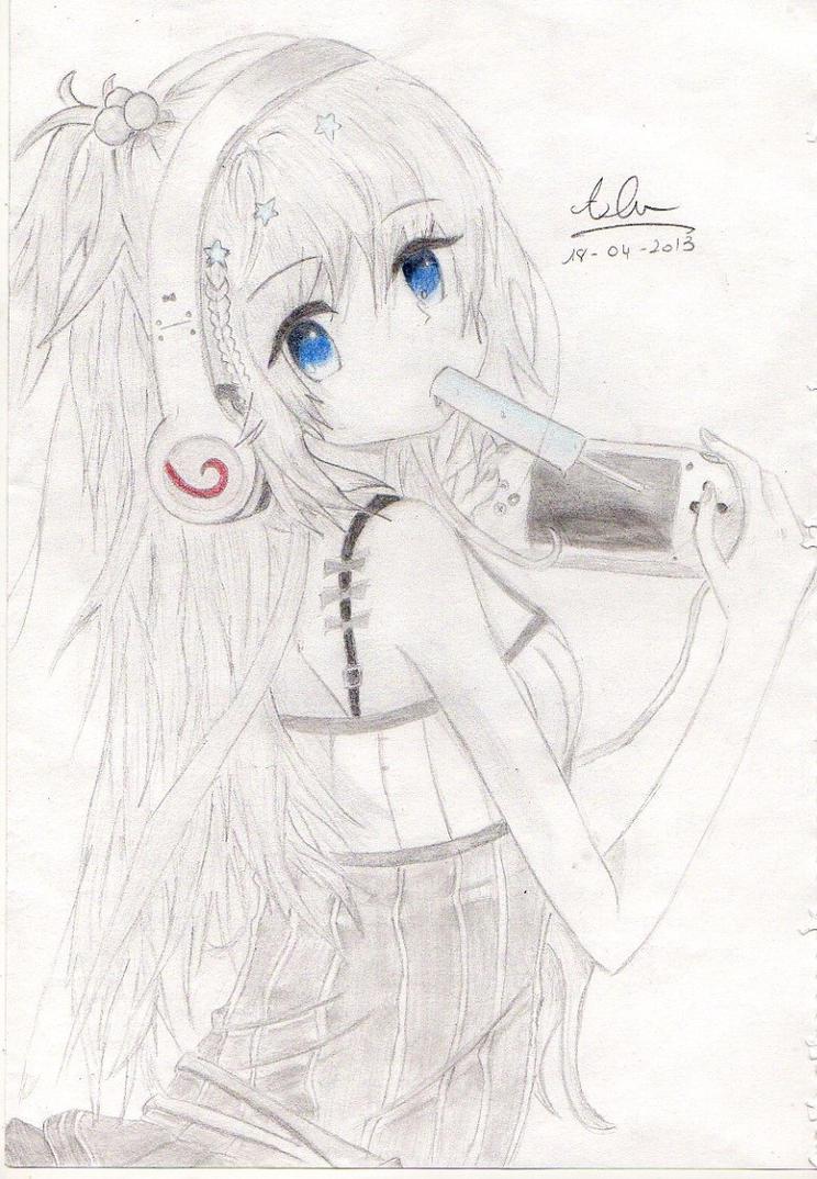 Anime girl eating ice cream by 06hypersonic60 on deviantart - Ice cream anime girl ...
