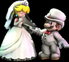 SFM - Mario and Peach (Wedding) render