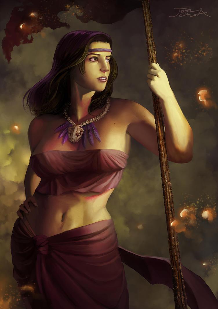 Castaway on the Isle of Fire by JoelChua
