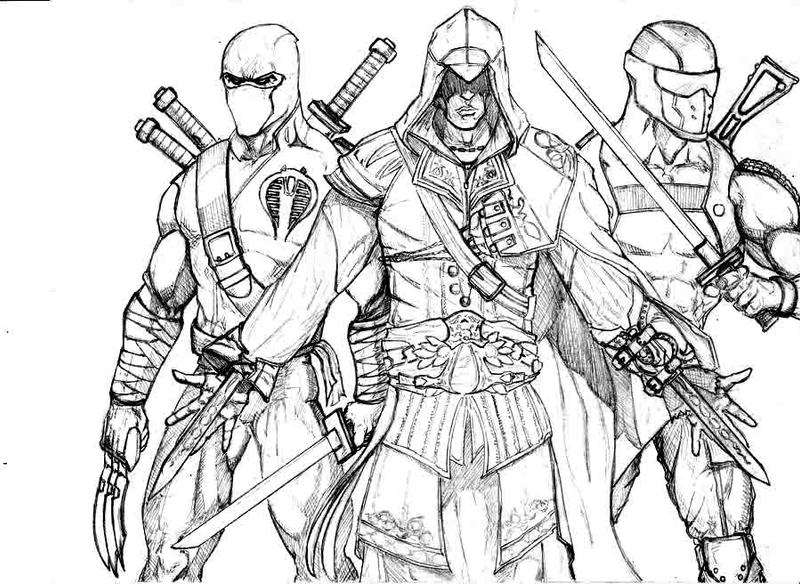 Assassings Creed Lenrto - Free Coloring Pages
