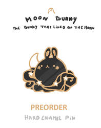 MOON BUNNY PIN - PREORDER