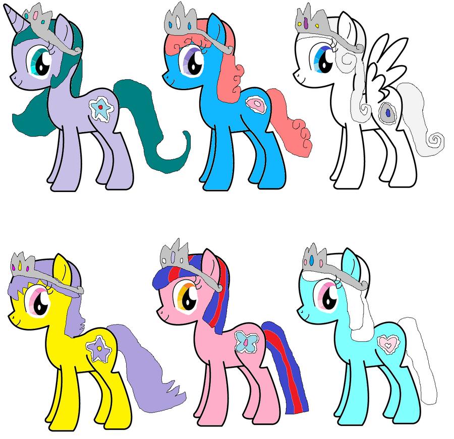 Princess Ponies G4 by jlj16
