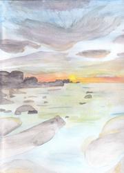 Paysage a l'aquarelle by KyA-chaan