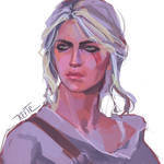 Fan art Ciri from the witcher