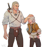 Geralt and Ciri from The Witcher