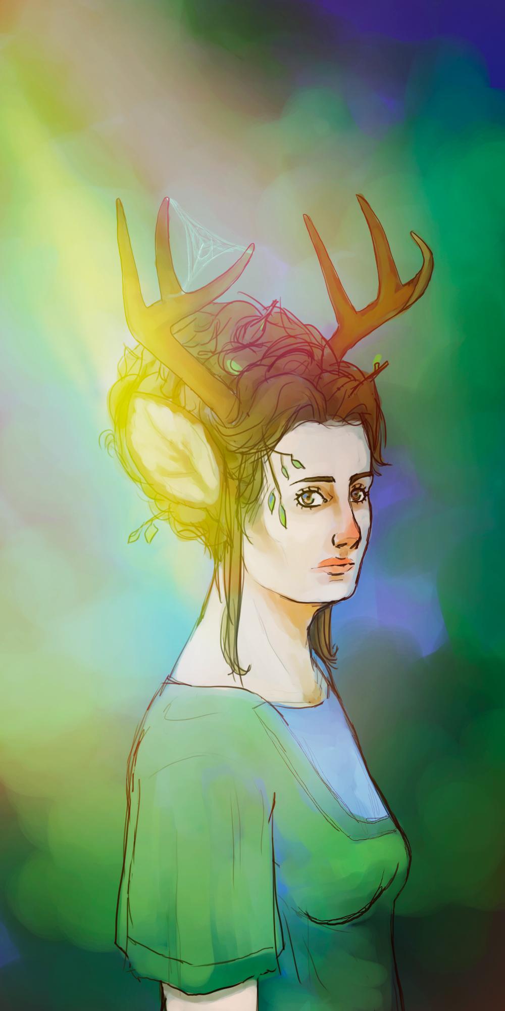 Deer princess by captainspring