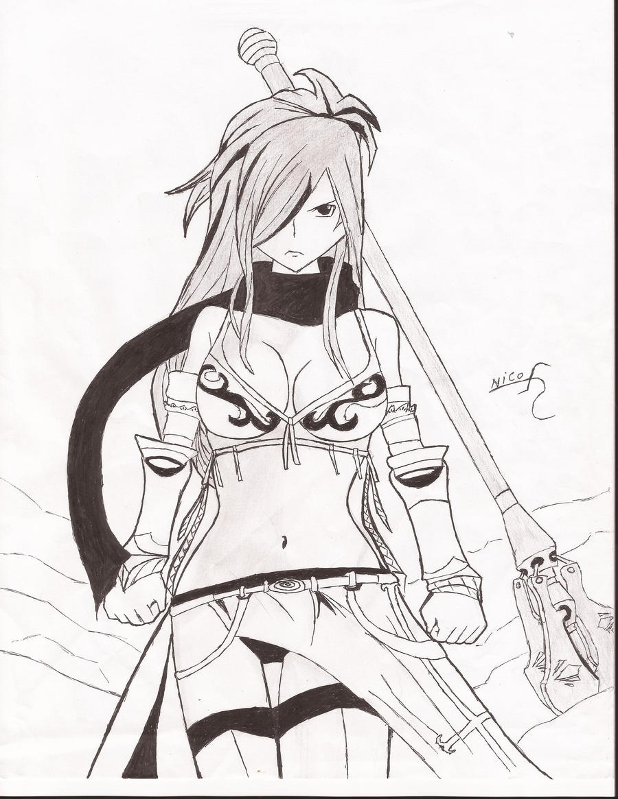 erza knoghtwalker from fairy tail!!! by nicosico