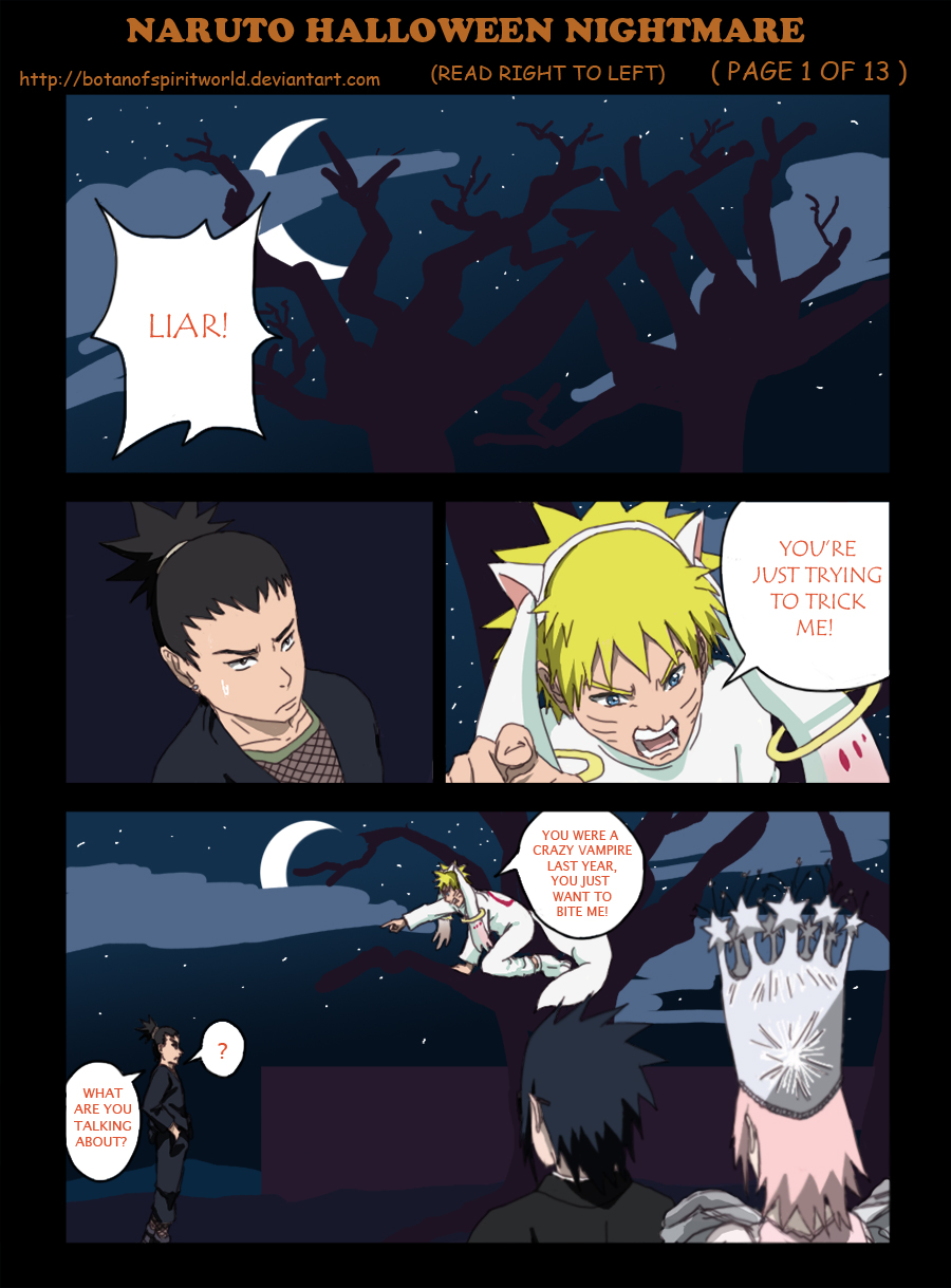 NarutoHalloweenNightmare Pg1 by BotanofSpiritWorld
