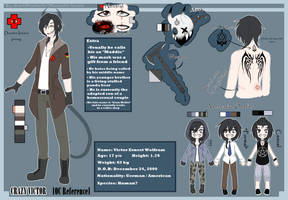 |Creepypasta Oc|Crazy Victor -Ref Sheet- by Dar4Martin3z
