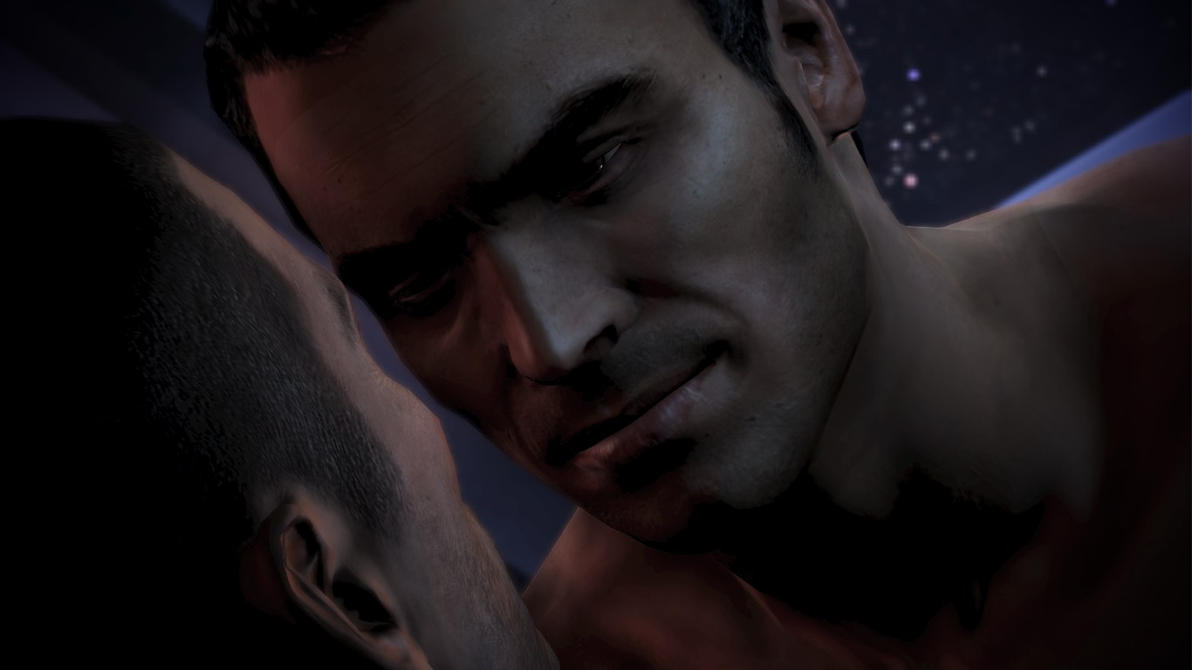 Kaidan and Shepard by LadyNaginiWesker