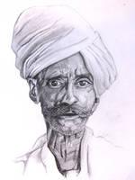 old indian man by Xandox