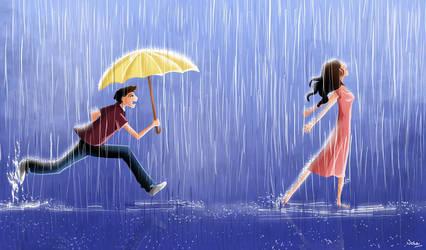 when it rains by Xandox