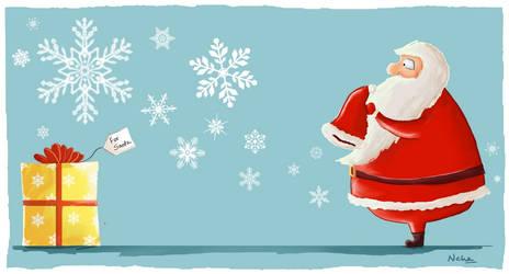 Who gives Santa claus presents by Xandox