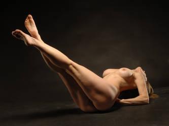 6818-AMG Fine Art Nude Mature Woman Long Legs by artonline