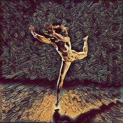 1315s-ZAC Dancer's Leap Woman Antonio Bravo Style by artonline