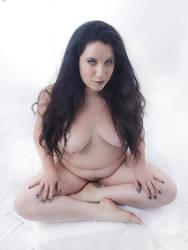 1468-NIS Blue Eyed Woman Long Black Hair Nude by artonline
