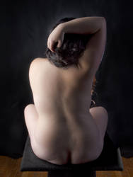 0835-NIS Seated Nude Woman Beautiful Back View by artonline