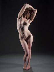 3445-MM Beautiful Nude Woman Slim Fit Body Sensual by artonline