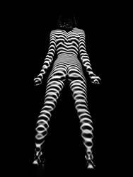 3684-MM Zebra Woman Bum Butt Rear Fine Art Nude by artonline