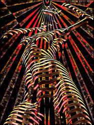 7068-KMA Female Figure Energy Abstract Art Spirit by artonline
