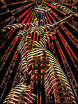 7068-KMA Female Figure Energy Abstract Art Spirit