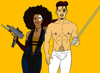Domino + Shatterstar by tapwater86
