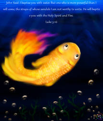 141 The Humble Good Fire golden Fish1 by TheHolySpiritSpeaks