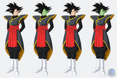 Zamasu + Goku Black Fusion ~black hair options