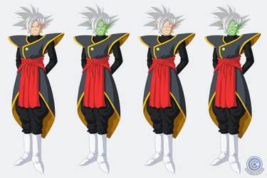 Zamasu + Goku Black Fusion ~white hair options