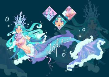 [OPENED] Adoptable mermay : 09 queen of the sea by kornbekorn