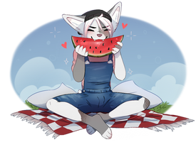 Watermelon lover by LaraWesker