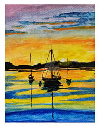 Watercolor Harbour by acarlizeynep