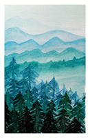Watercolor Mountains by acarlizeynep