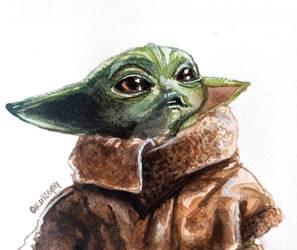 Baby Yoda by acarlizeynep