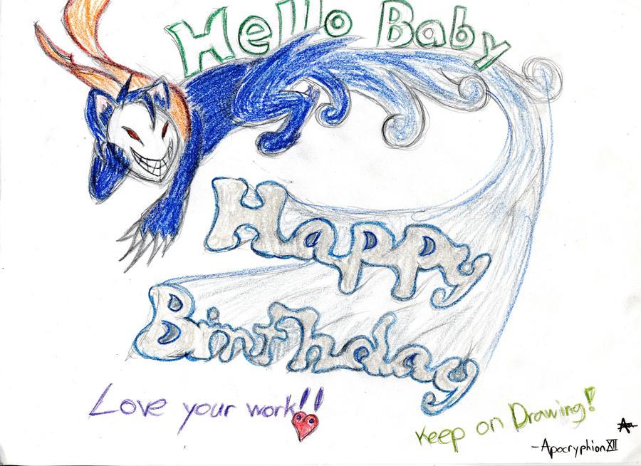 Happy Birthday, Hello! Cheshire says by ApocryphionXII