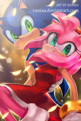 Summer Breeze | Sonic and Amy by Ranisa