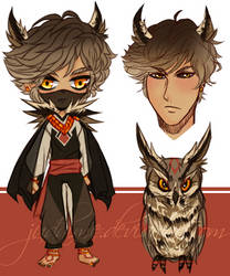 Owl Kemonomimi Sketch Adopt    OTA    CLOSED