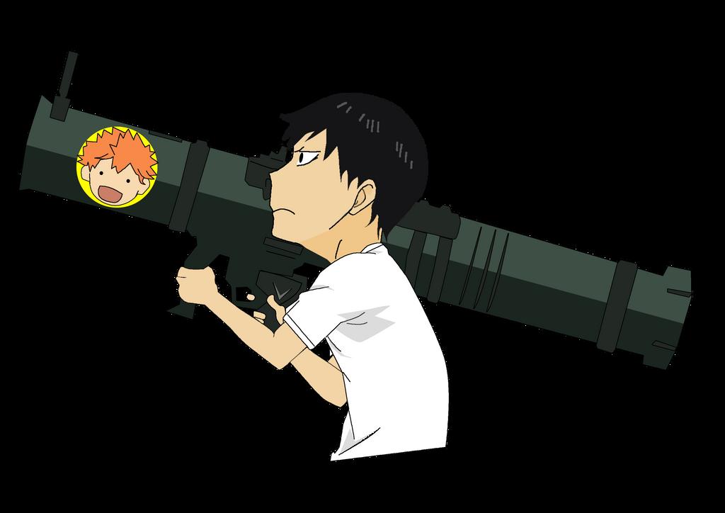Kageyama Holding Bazooka by sawakaya