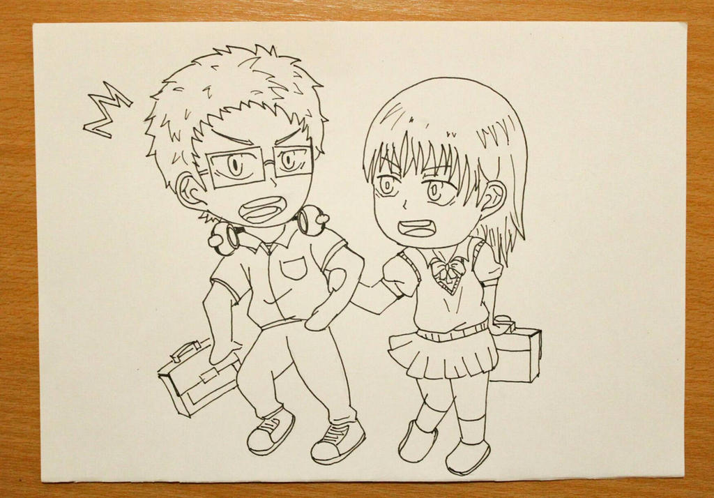 tsukishima and sarayu by sawakaya