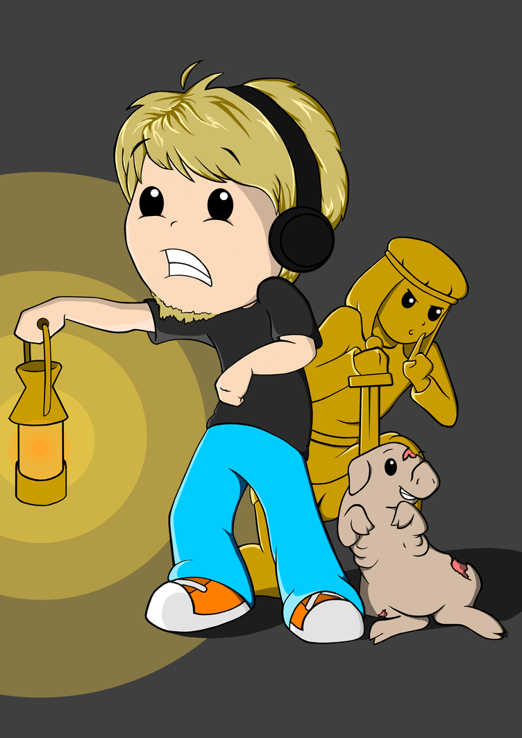 Pewdie, Piggeh and Stephano by natfink93 on DeviantArt