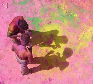 holly festival.pushkar.india