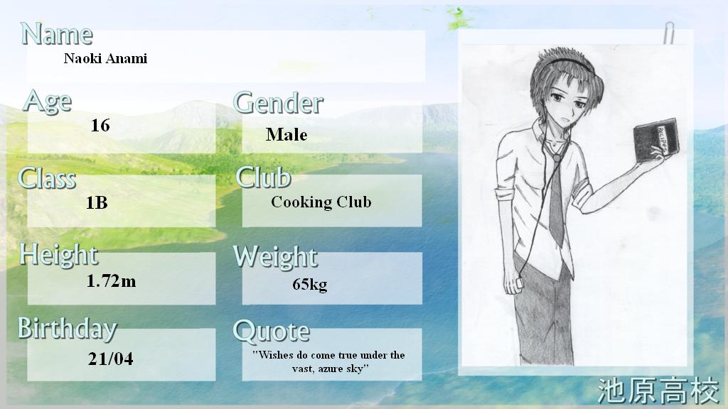 Ikehara High App-Sheet: Naoki Anami by Paka-kun