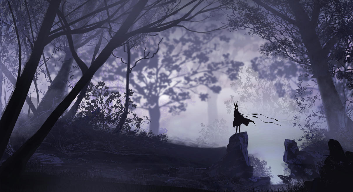 Alone In A Dark Forest by TacoSauceNinja on DeviantArt